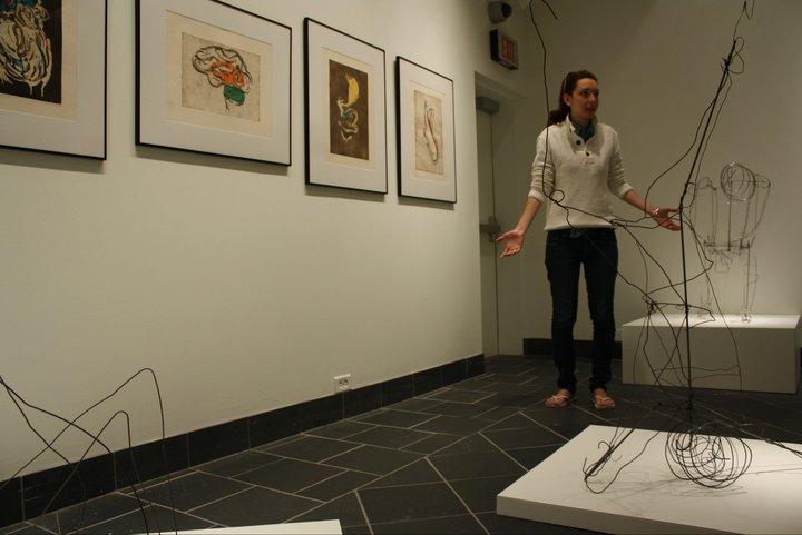 Salazar Explaining Work at a Previous Exhibition